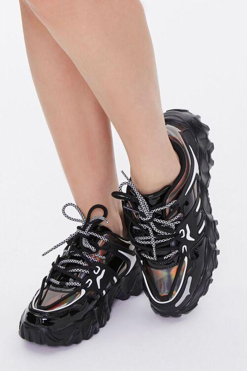 Semi-Iridescent Low-Top Sneakers, image 1