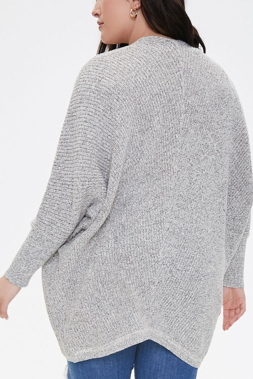 Plus Size Draped Open-Front Cardigan, image 3