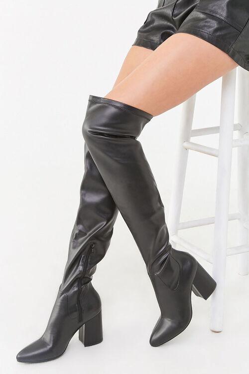 Over-the-Knee Block Heel Boots, image 1