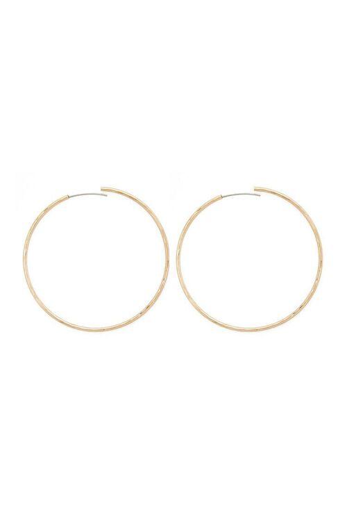 Metal Hoop Earrings, image 2