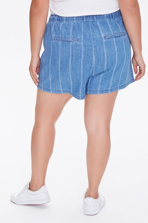 Plus Size Striped Denim Shorts, image 4