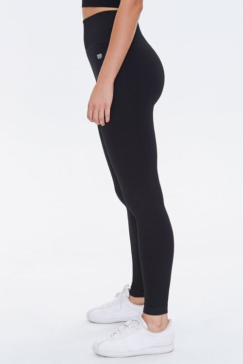 Active Seamless Ribbed High-Rise Leggings, image 3
