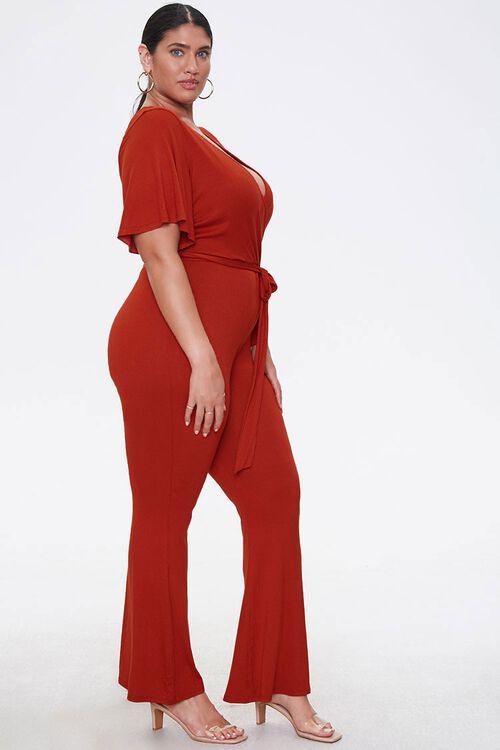 Plus Size Flare Wrap Jumpsuit, image 2