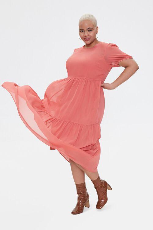 Plus Size Tiered Midi Dress, image 1