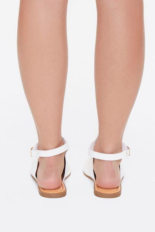 Faux Leather Cutout Sandals, image 3