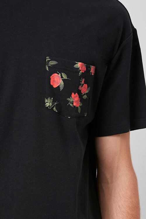 Rose Print Pocket Tee, image 5