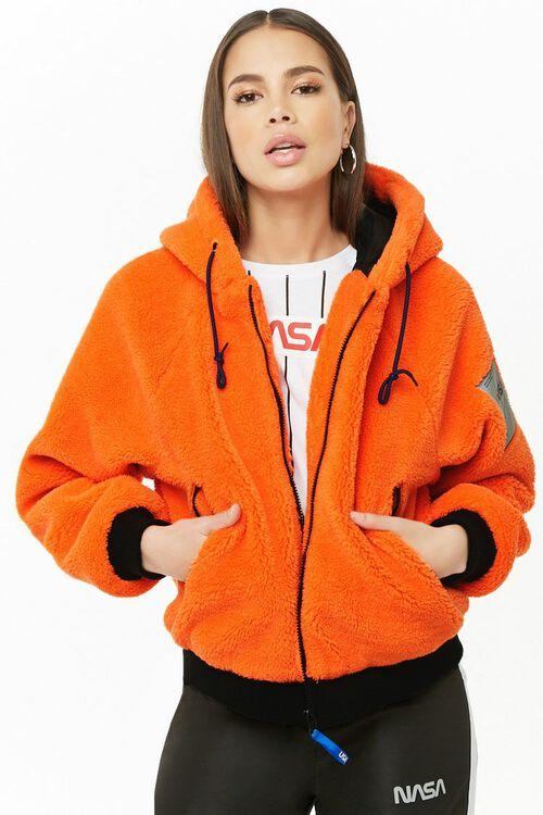 NASA Hooded Faux Fur Jacket, image 2