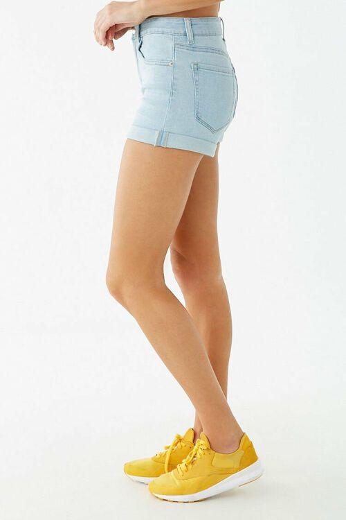 Cuffed Denim Shorts, image 3