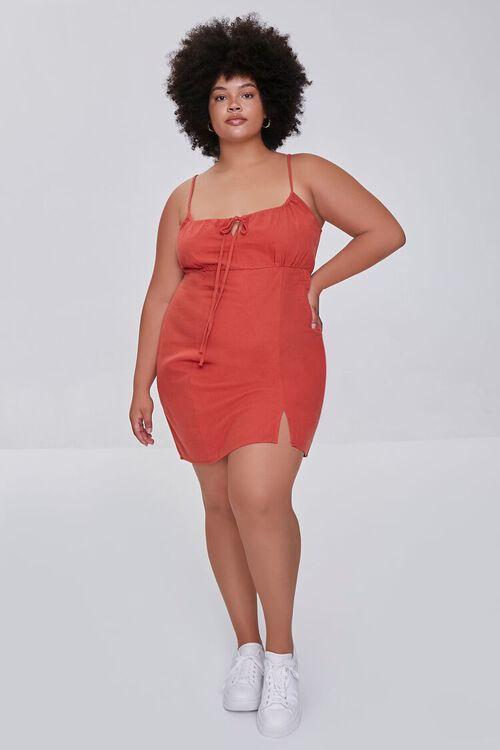 RUST Plus Size Sheath Cami Mini Dress, image 4