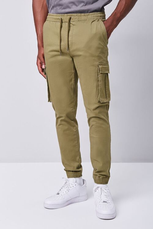 Twill Drawstring Cargo Pants, image 2