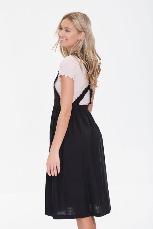 Linen-Blend Pinafore Dress, image 2