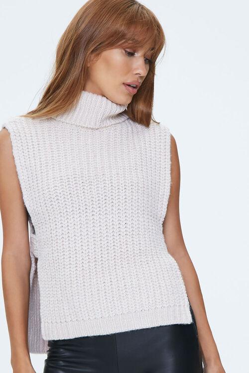 Turtleneck Sweater-Knit Top, image 1