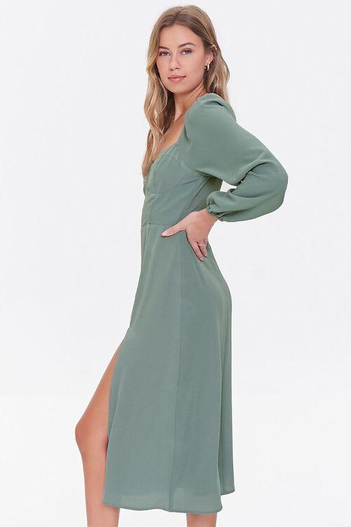 DARK GREEN Recycled Sweetheart Dress, image 2