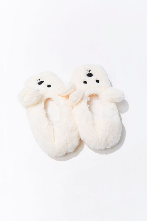Plush Polar Bear Indoor Slippers, image 2