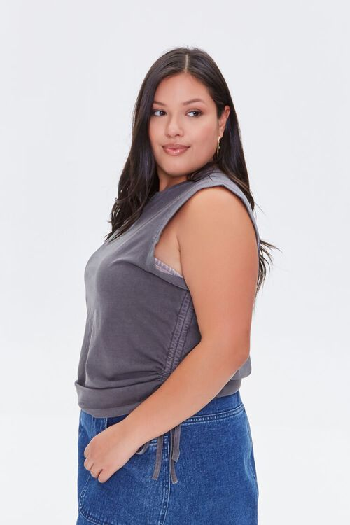 Plus Size Disconnect Muscle Tee, image 2