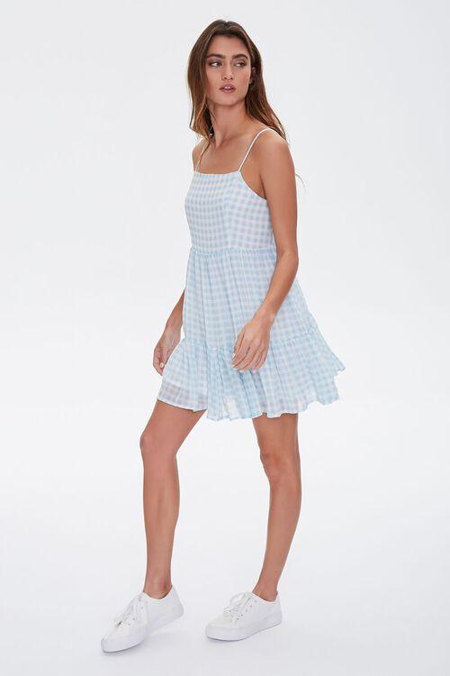 BLUE/CREAM Gingham Mini Dress, image 4