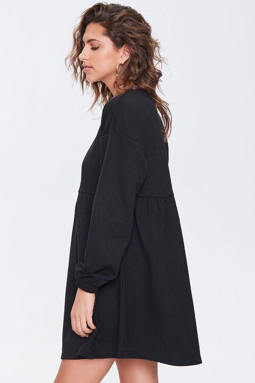Fleece Drop-Sleeve Mini Dress, image 2