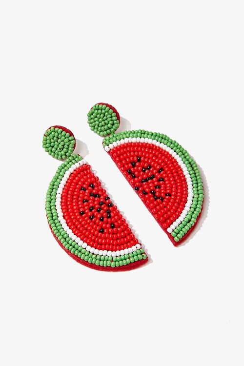 Beaded Watermelon Drop Earrings, image 2