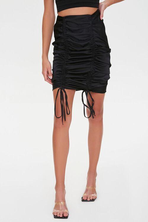 Ruched Drawstring Skirt, image 2