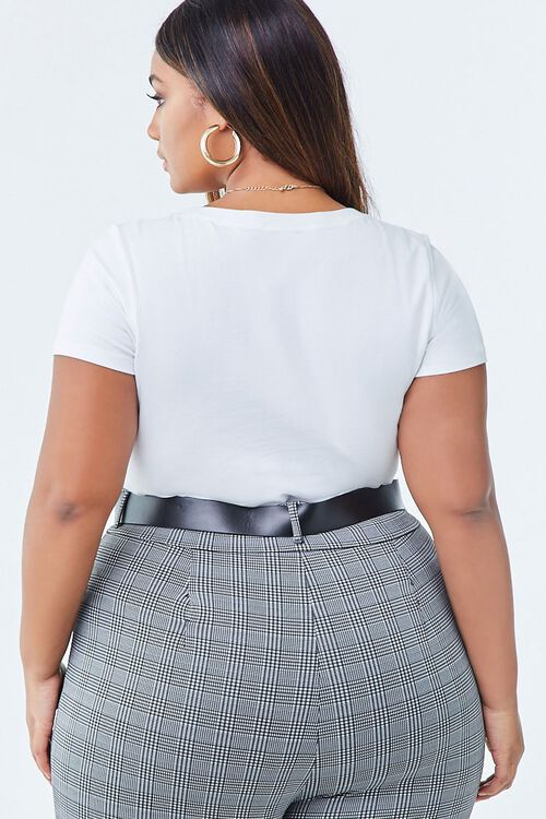Plus Size Short Sleeve Bodysuit, image 3