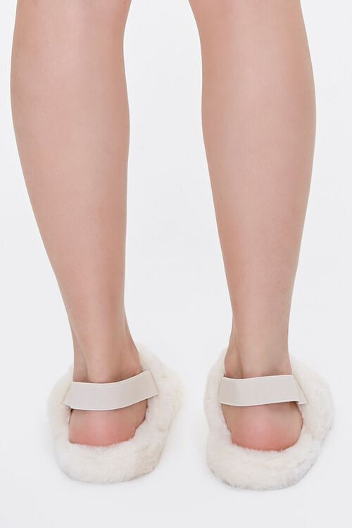 Faux Fur Backstrap Slippers, image 3