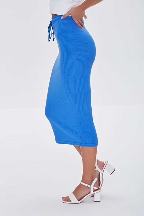 ROYAL BLUE  Fitted Drawstring Skirt, image 3
