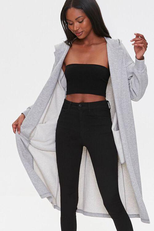 Hooded Longline Cardigan Sweater, image 1