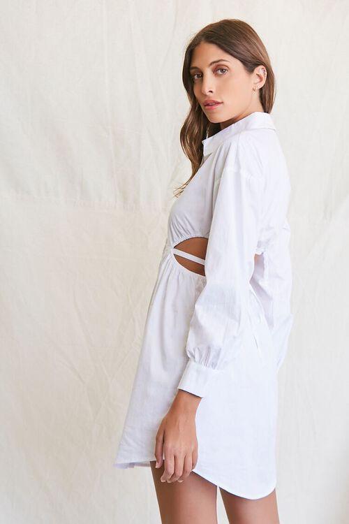 Cutout Shirt Dress, image 2