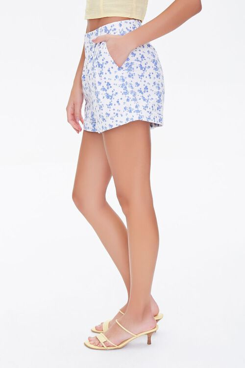 Floral Print High-Rise Shorts, image 3