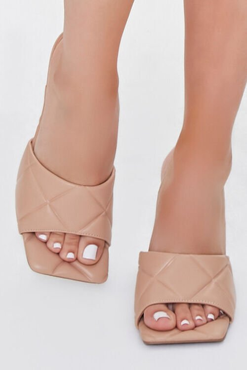 Quilted Square-Toe Heels, image 4