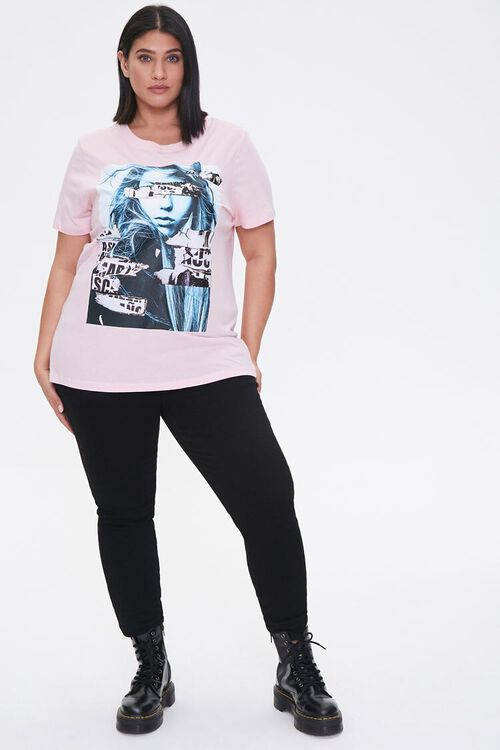 PINK/MULTI Plus Size Woman Graphic Tee, image 4