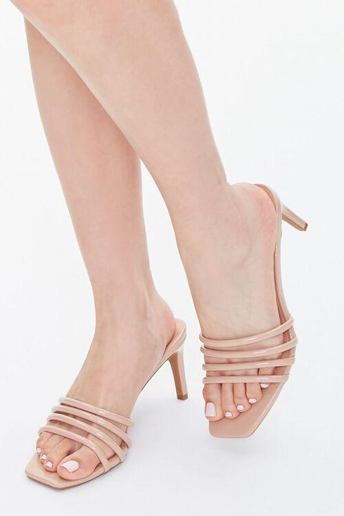 Strappy Slip-On Stiletto Heels, image 1