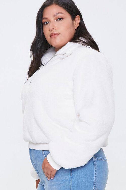 Plus Size Plush Half-Zip Pullover, image 2