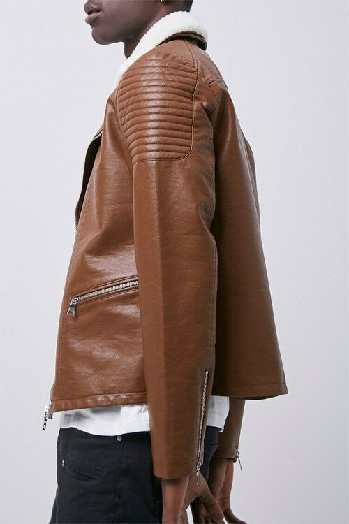 Faux Leather Moto Jacket, image 2