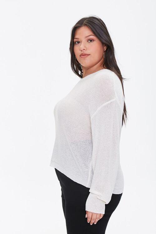 Plus Size Ribbed-Trim Sweater, image 2