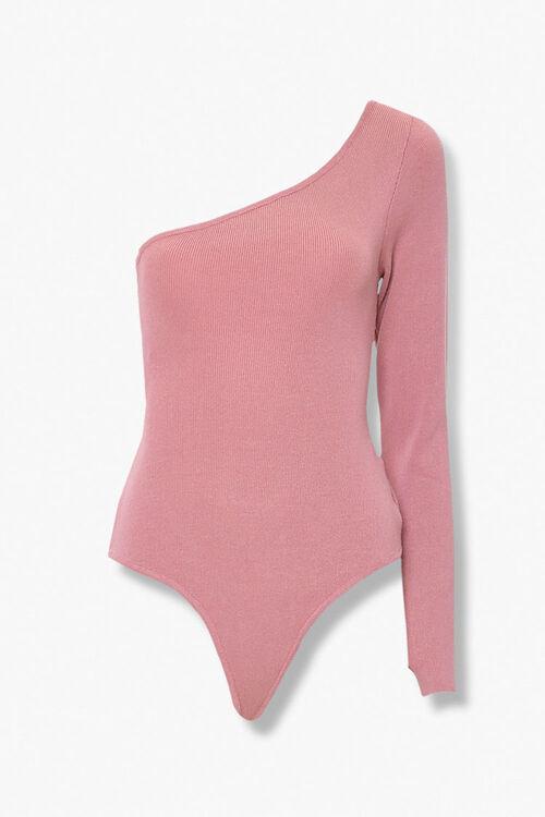 One-Shoulder Thong Bodysuit, image 1