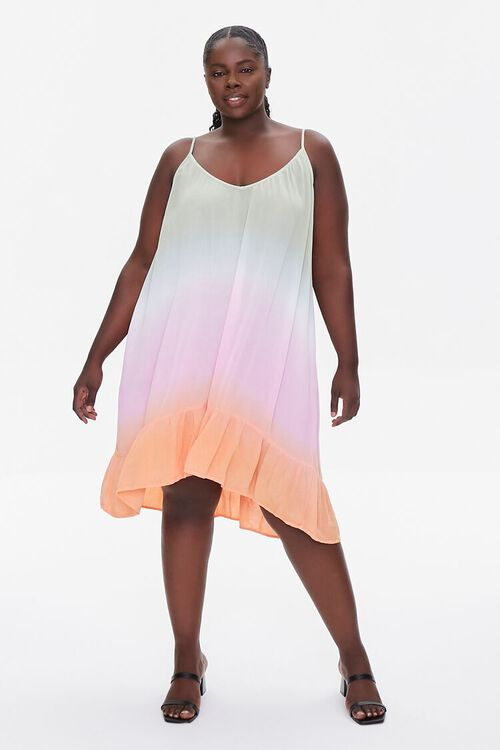 Plus Size Ombre Cami Mini Dress, image 4