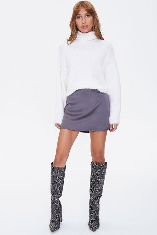 Fuzzy Knit Turtleneck Sweater, image 4