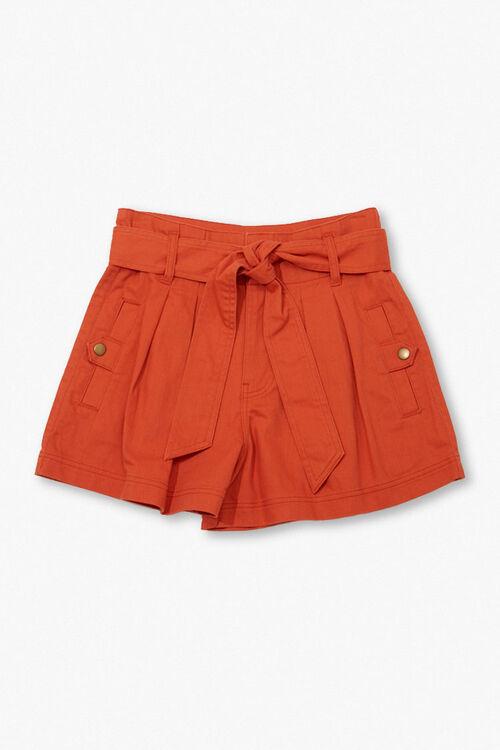 High-Rise Tie-Waist Shorts, image 1