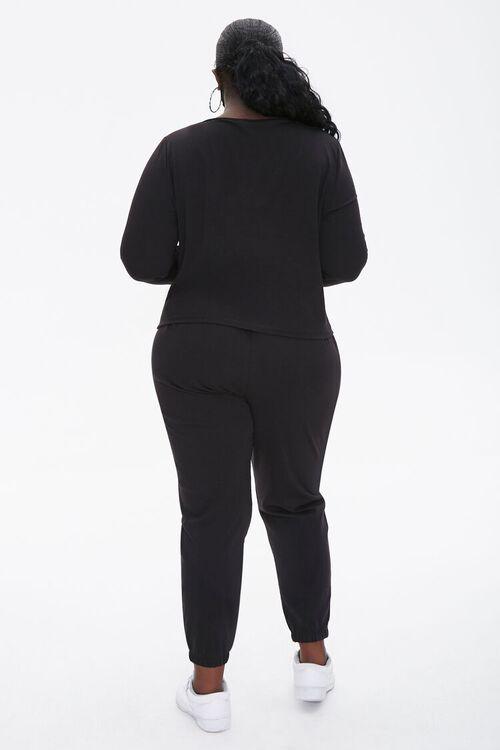 Plus Size Top & Joggers Set, image 3