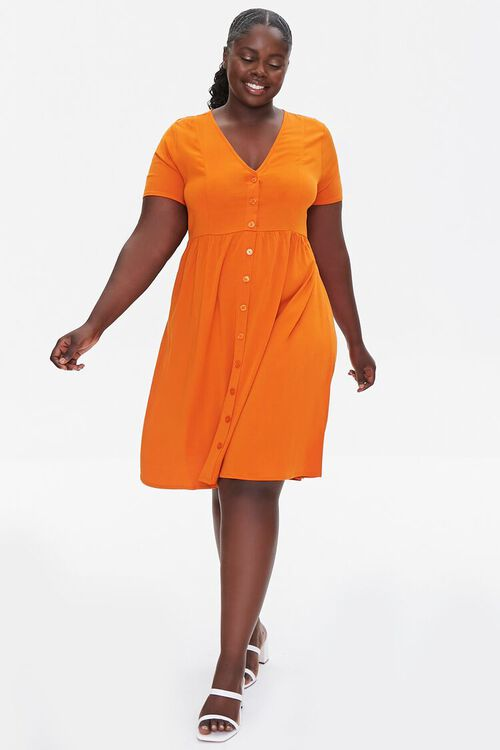 RUST Plus Size Fit & Flare Dress, image 4