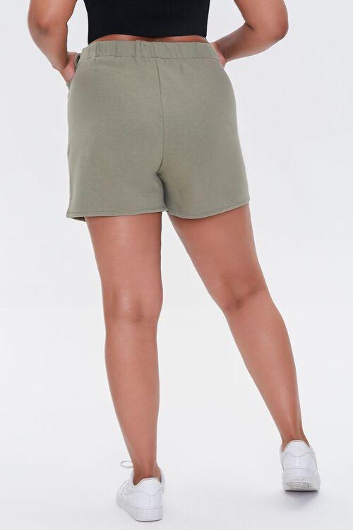 OLIVE Plus Size Fleece Tie-Waist Shorts, image 4