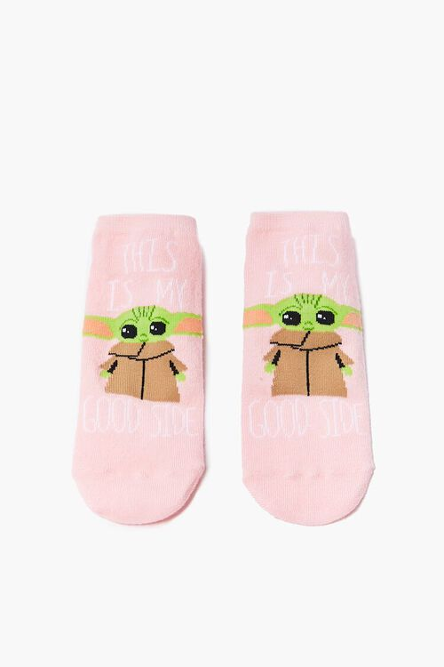 Baby Yoda Graphic Ankle Socks, image 2