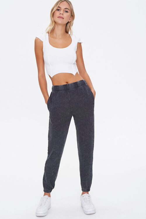 French Terry Mineral Wash Joggers, image 1