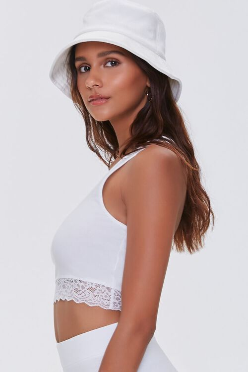 Lace-Trim Cropped Tank Top, image 2
