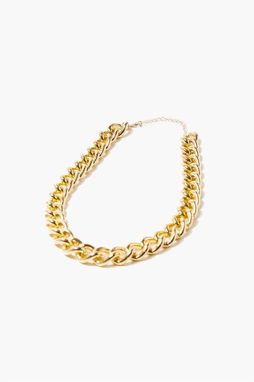 Chunky Curb Chain Necklace, image 2