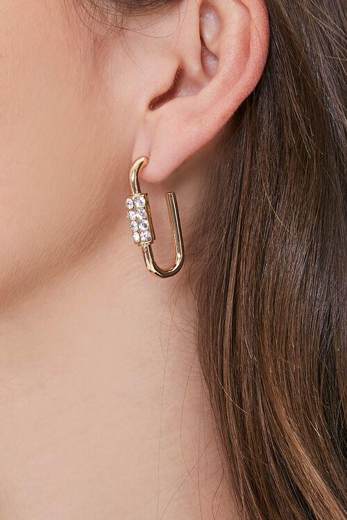 GOLD Carabiner Hoop Earrings, image 1