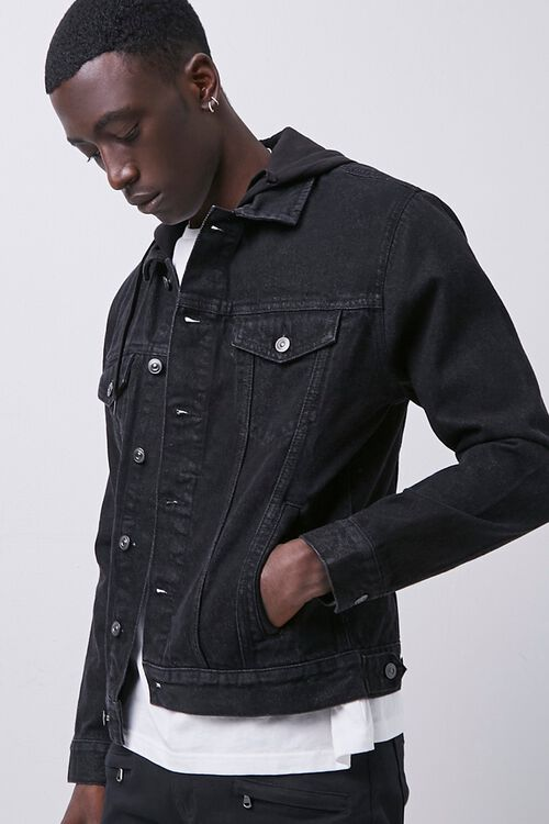 Hooded Denim Jacket, image 1