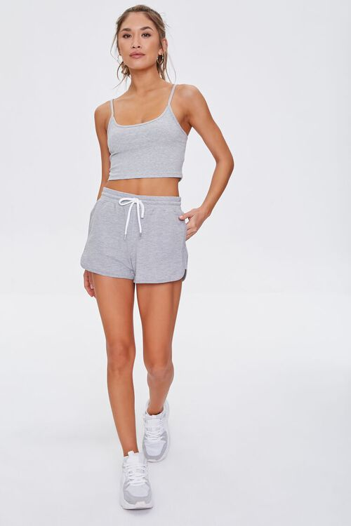 Active Heathered Cropped Cami, image 4