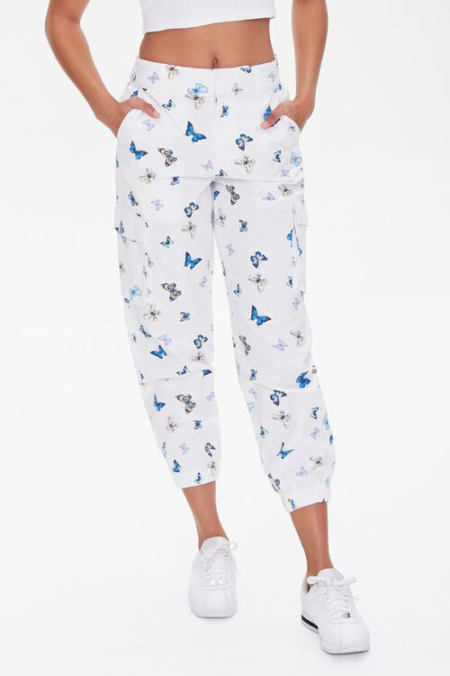 Butterfly Print Joggers, image 2